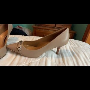 Nude Coach Pumps...low heel Size 9.5